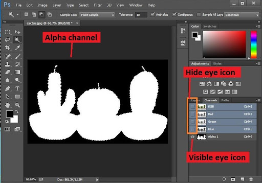 How to remove alpha channel in Photoshop